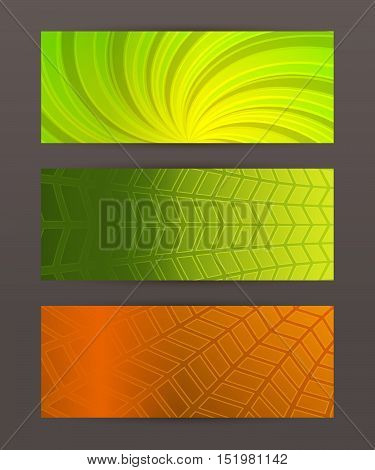 Set Horizontal Banner Headline Abstract Glow Lines09