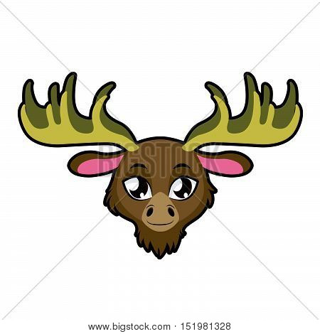 Moose portrait illustration art for multiple purposes