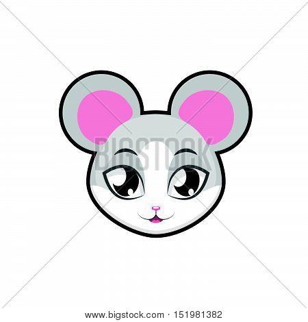 Mouse portrait illustration art for multiple purposes