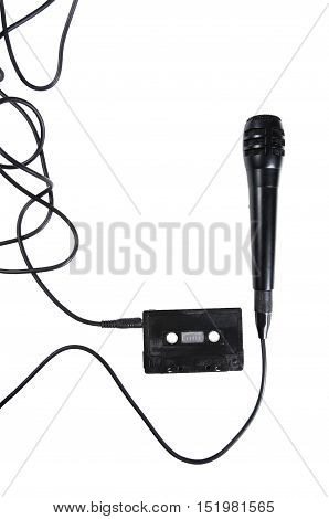 Audiotape And Microphone.