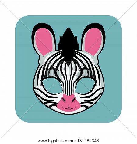 Zebra Mask For Halloween And Other Festivities