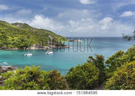 Boats At Anse Major, Mahe, Seychelles