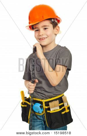 Happy Kid Carry A L Square Ruler
