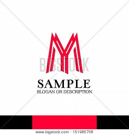 Design of Creative Corporate Branding. Emblem, Slogan and Description with Modern Color Scheme.