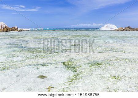 Turquoise Lagoon, La Digue, Seychelles