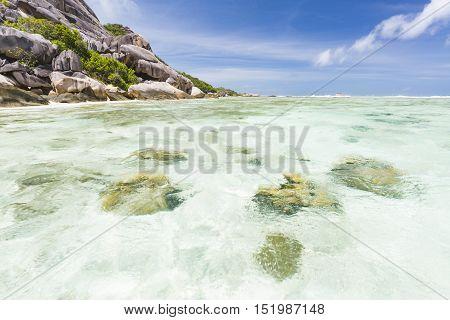 Coral Blocks, La Digue, Seychelles