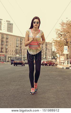 Woman On A Morning Jog.