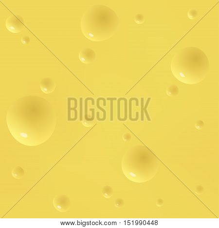 Realistic cheese seamless texture. Vector background pattern illustration.