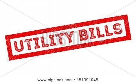 Utility Bills Rubber Stamp