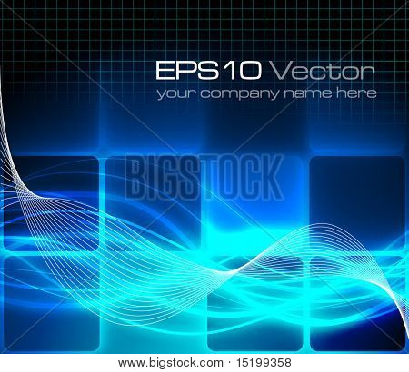 Blue fantasy background - vector illustration