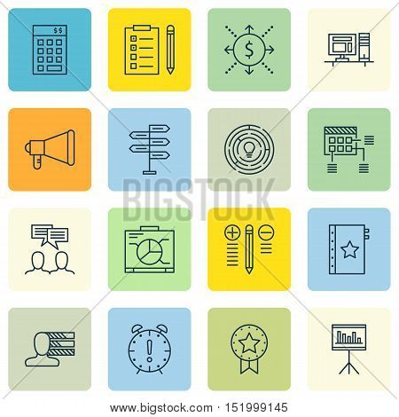 Set Of Project Management Icons On Presentation, Decision Making, Personal Skills And Other Topics.