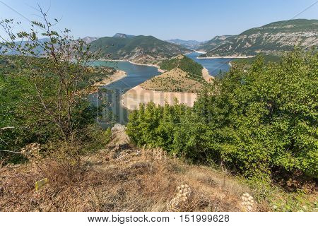 Amazing Panorama of Arda River meander and Kardzhali Reservoir, Bulgaria