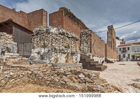 Entrance of Amphitheater in Roman Odeon, Patras, Peloponnese, Western Greece