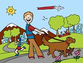 foto of dog-walker  - Dog Walker - JPG