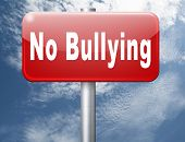 Bully free zone, Stop bullying at school or at work stopping or online. 3D illustration  poster