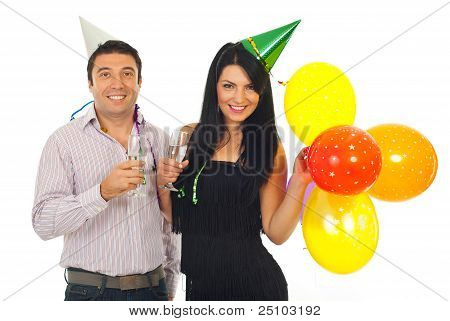 Couple Celebrate New Year Together
