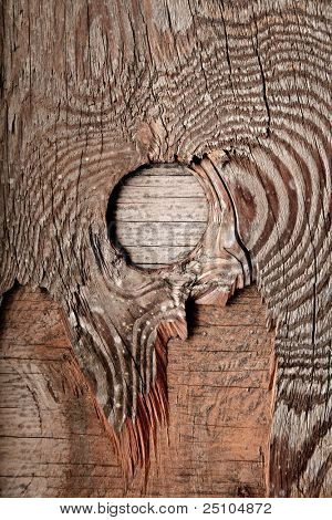 plywood-background with knothole