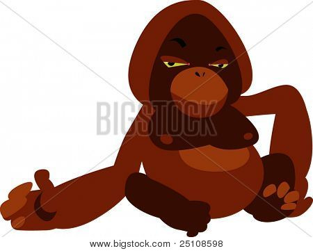 vector ape monkey orang-utan design: zoo series