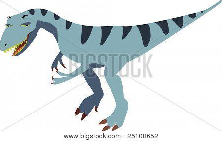 vector allosaurus design: dinosaurs series