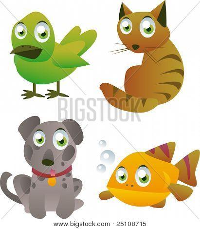 vector pets set