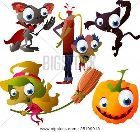 vector Halloween set 5