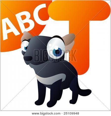 ABC Animals: T is for Tasmanian Devil