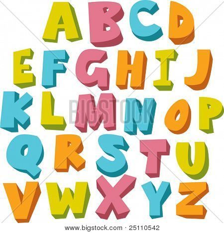 vector fun alphabet