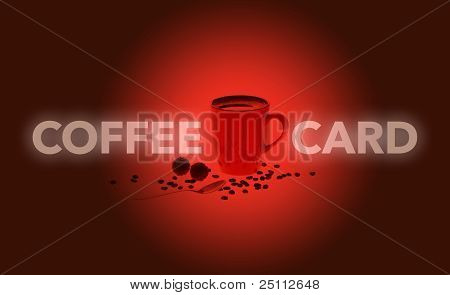 Red Coffee Card