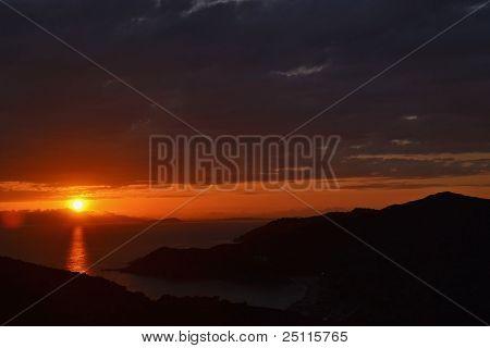 Sardinia (Italy) - sunset over the sea