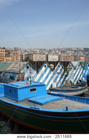 Boatyard On The Riviera In Naples