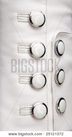 White Leather with buttons Background