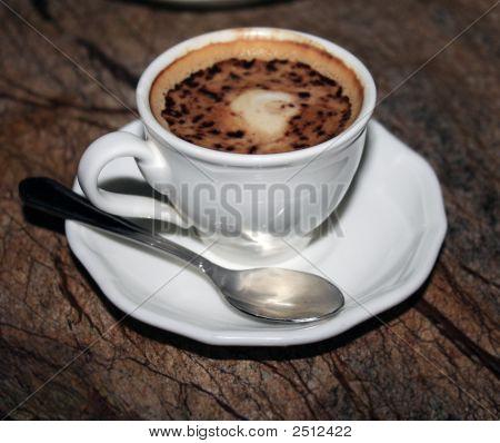 Fancy Coffee On Granite Table