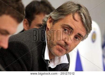 Roberto Mancini Of Manchester City