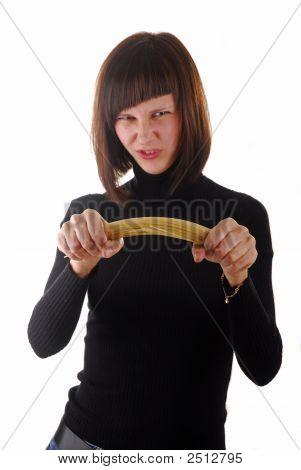 Woman And Spaghetti 2