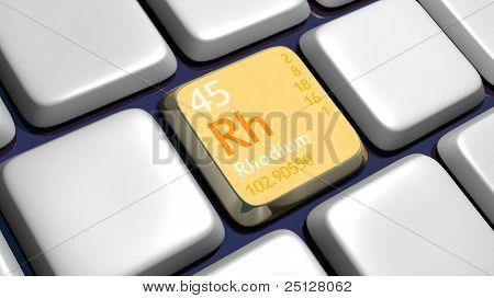 Keyboard (detail) With Rhodium Element