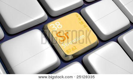 Keyboard (detail) With Strontium Element