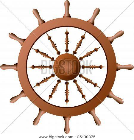 Ship Wheel. Vector