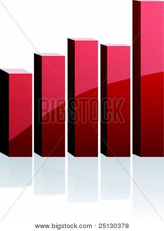 Vector Red Diagram For Business
