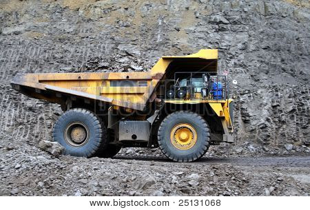 Coal dump truck at open cast mine
