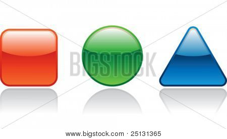 Internet RGB color icons with reflection in Vector format