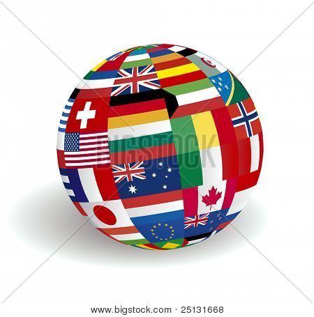 The sphere world flags