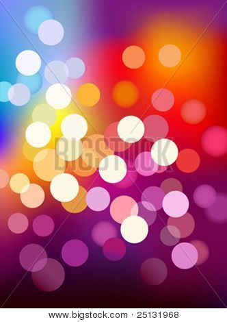 multi color bokeh lights background in Vector format