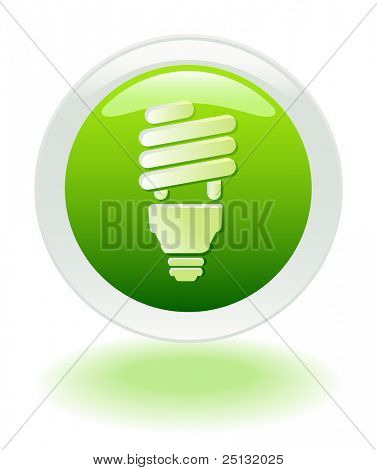 Energieeinsparungen web Button-Symbol