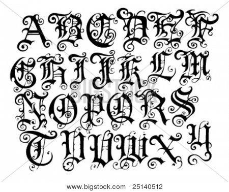 Vintage Typeface Specimen
