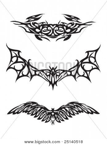 Wings - Collection of Abstract Tattoo Designs