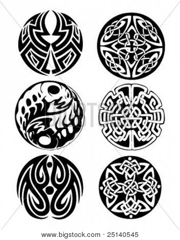 Abstract celtic cicular tattoo design works