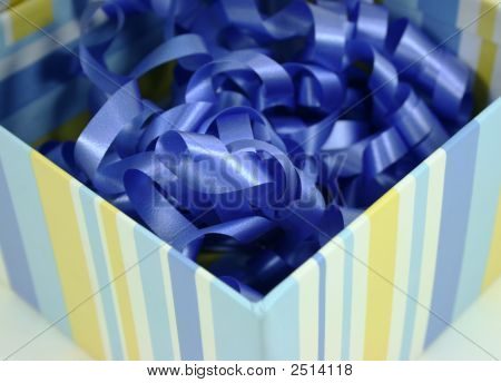 Blue Ribbon Striped Box