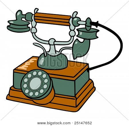 old fashioned table telephone (also available in vector format)