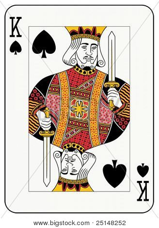 King of Spades-Spielkarte