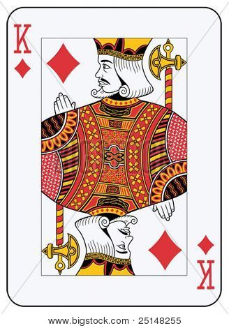 King of Diamonds-Spielkarte